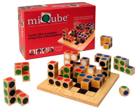 miQube boardgame and puzzle